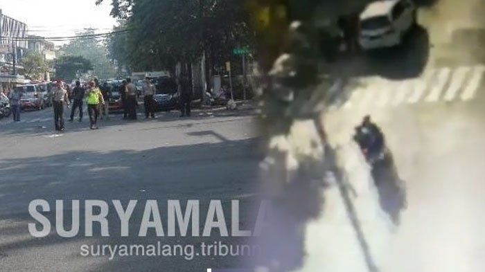 Video Detik-detik Ledakan Bom di Gereja Santa Maria Ngagel Surabaya Minggu Pagi ini