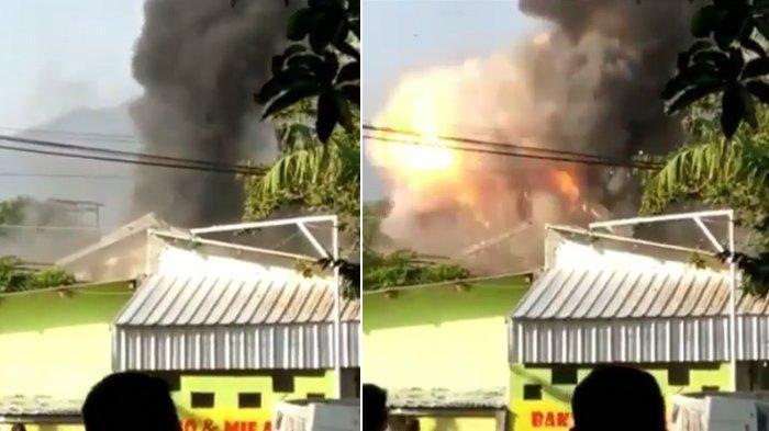 Detik-detik Mencekam Kebakaran Mako Brimob Srondol Semarang Disertai Ledakan, 1 Anggota Terluka