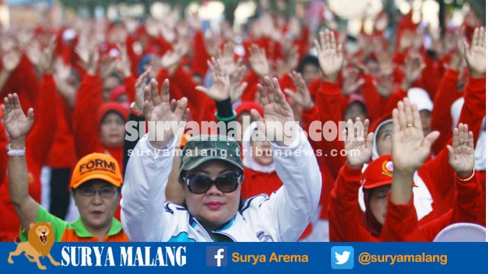 700 Orang Ikut Senam Bersama Umi Farida di Stadion Gajayana, Lihat Kemeriahannya