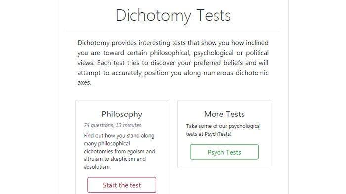 Dichotomy Test, Tes Kepribadian yang Viral di Media Sosial, Silahkan Coba dan Lihat Hasilnya