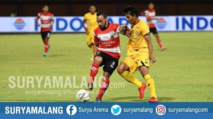 Madura United Ditahan Imbang Semen Padang 1-1 di Pamelingan Pamekasan