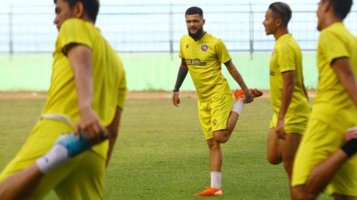 Diego Michiels Sudah Ikut Latihan Tertutup Arema FC