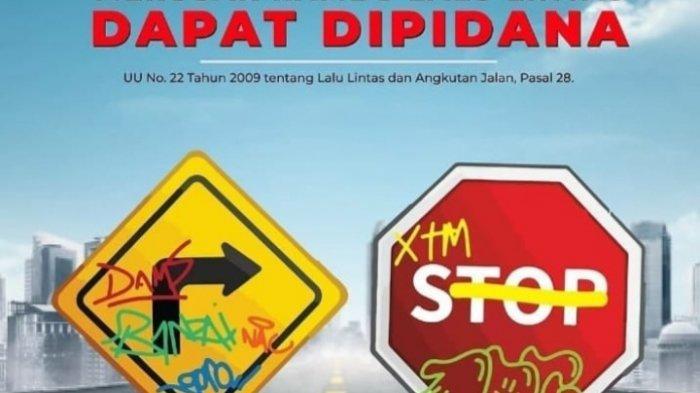 Imbauan Dishub Kota Malang : Merusak Rambu Lalin Dapat Dipidana