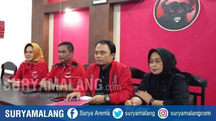DPC PDIP Kabupaten Malang Umumkan Kepastian Rekomendasi Pasangan Sanusi -Didik, Undang 8 orang