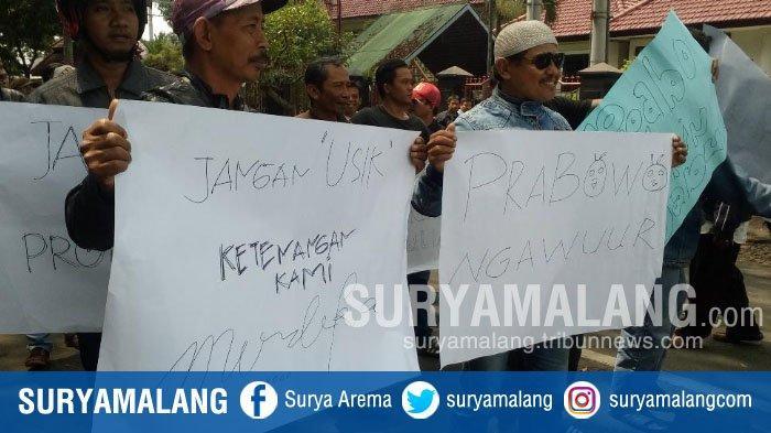 Demo Soal Pernyataan Prabowo, Driver Ojek Online di Malang : Kami Bukan Koruptor