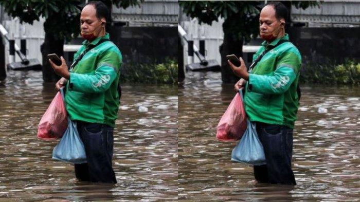 Siapa Yudi Ammaral? Driver Ojol yang Viral Terjang Banjir di Jakarta, Demi Antar Sayur hingga Telur