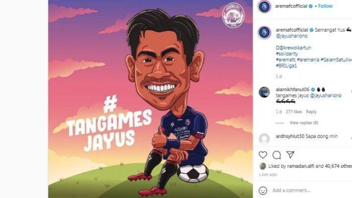 Dukungan Arema FC Kepada Jayus Hariono yang Dibully Netizen Gara-gara Insiden Kartu Merah