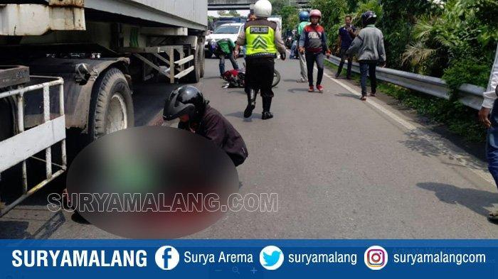 Pengemudi Ojek Online asal Pamotan, Dampit, Malang Terlindas Truk Trailer di Bundaran Waru Surabaya