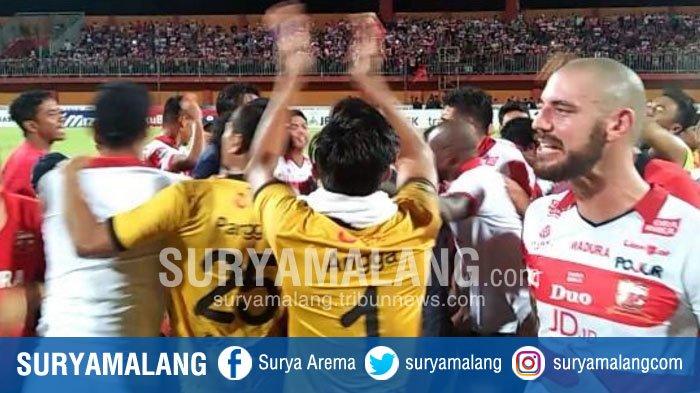 Usai Pecundangi Arema FC, Beginilah Bentuk Euforia yang Dilakukan Madura United, Duh Merinding