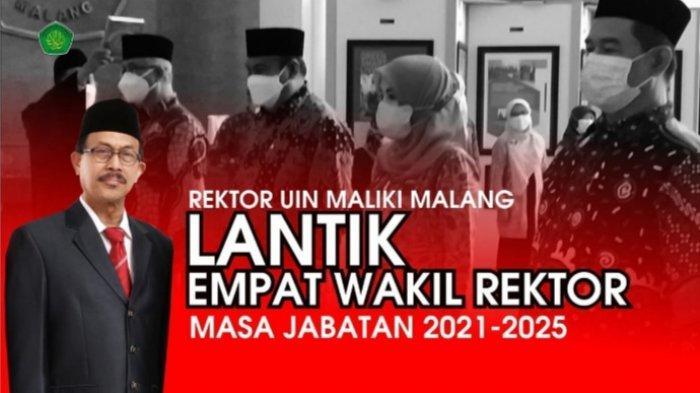 Inilah 4 Wakil Rektor Baru UIN Malang Periode 2021-2025