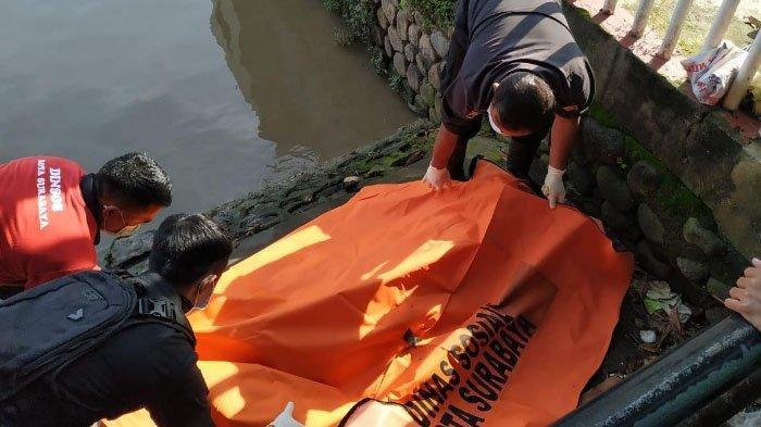 Heboh Penemuan Mayat Pria Bertato Bunga dan Tengkorak di Kali Jagir Surabaya, Diduga Penjambret