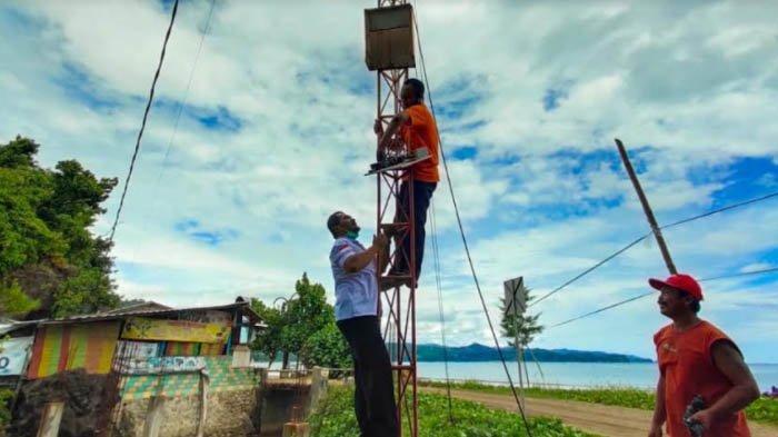 Rusak Karatan, BPBD Tulungagung Copot  EWS Tsunami di Pantai Bayem