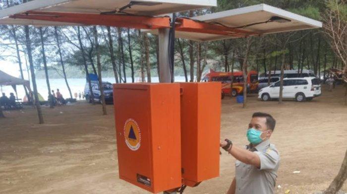 2 Alat EWS di Pantai Tulungagung Dinyalakan Setiap Tanggal 26 untuk Kesiapsiagaan Antisipasi Bencana