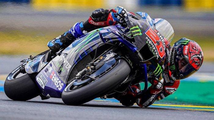 Posisi Start Pembalap MotoGP Prancis 2021 Malam Ini, Quartararo Pole, Valentino Rossi Masuk 9 Besar