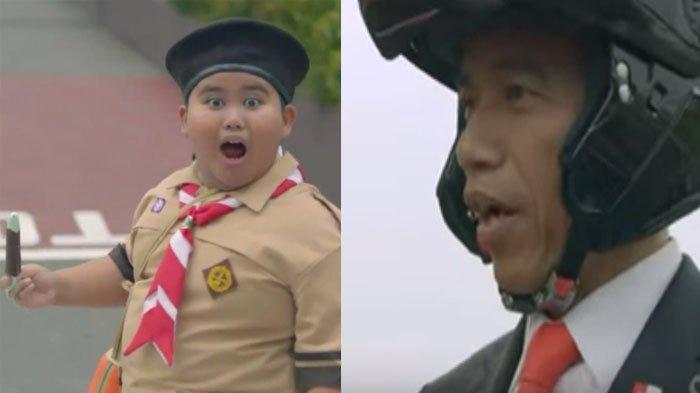 Akting Bareng Presiden Jokowi di Video Asian Games 2018, Fairel si Anak Pramuka Ungkap Honornya