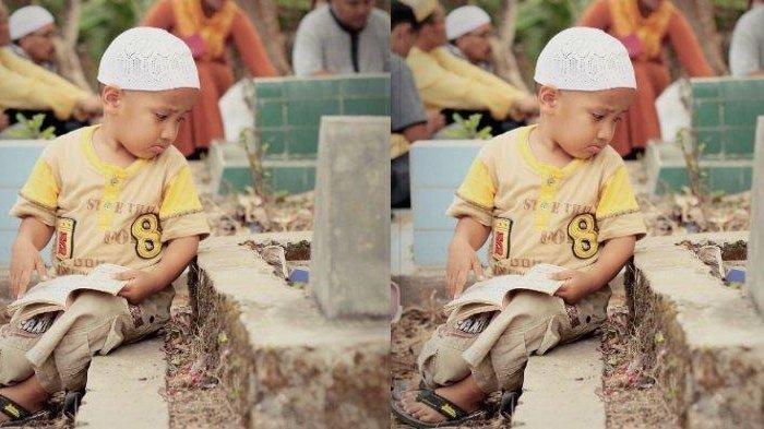 Fakta Sebenarnya Foto Bocah Menangis di Samping Makam Viral, Kisah Aslinya Tak Seperti Dugaan