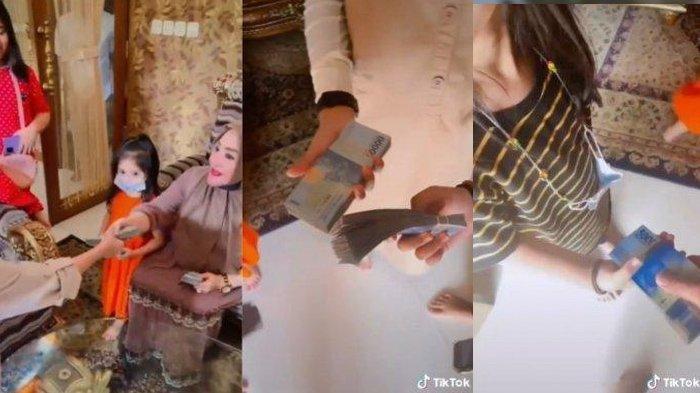Fakta Sebenarnya Video Viral Emak-emak Bagi Segepok THR: Bukan Settingan, Per Orang Dapat Rp 5 Juta