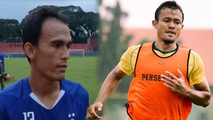 Faris Aditama Kapten Persik Kediri saat diwawancarai wartawan di Stadion Brawijaya Kediri dan Arif Satria saat ikuti latihan Persebaya