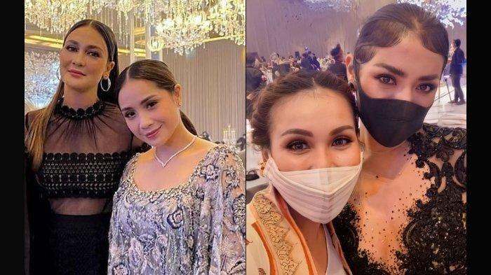 Fashion Nagita Slavina dan Ayu Ting Ting di acara pernikahan Aurel Hermansyah