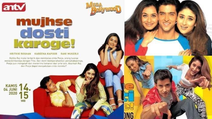 Sinopsis Film Mujhse Dhosti Karoge, Mega Bollywood India ANTV Hari Ini 4 Juni 2020: Cinta Segitiga