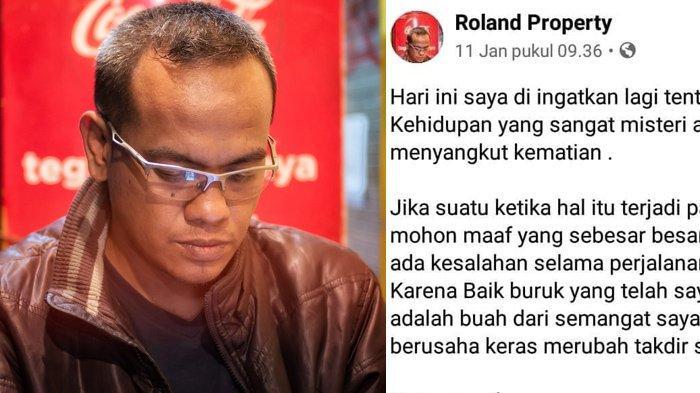 Firasat Roland Sebelum Tewas Terbawa Longsor di Depan Rumahnya di Malang, Tulis Pesan Soal Kematian