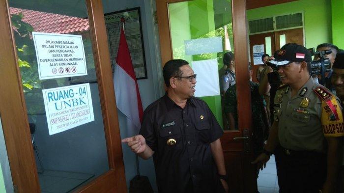 Forkopimda Tulungagung Pantau UNBK, Plt Bupati Janjikan Apresiasi Bagi Siswa Berprestasi