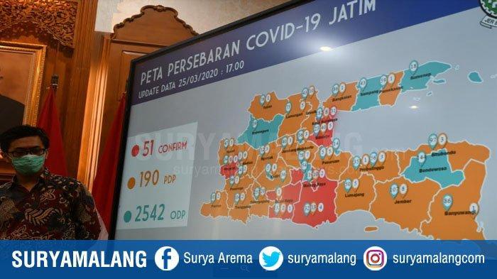 UPDATE Jumlah Kasus Positif Covid-19 di Jatim Tidak Bertambah, Jumlah ODP Tembus 2.542 Orang