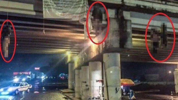 Dokumentasi Pembunuhan Sadis, 9 Mayat Tanpa Busana Digantung di Kolong Jembatan & Berlumuran Darah