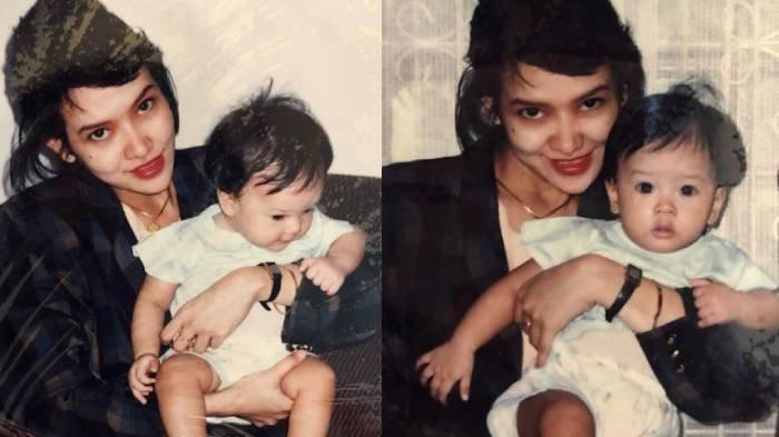 Foto Anya Geraldine dan ibunya