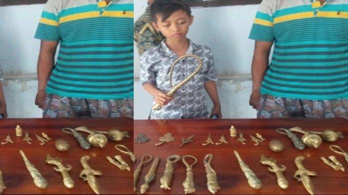 KRONOLOGI Puluhan 'Benda Pusaka' Ditemukan 3 Bocah di Lumajang, Muncul Tiba-tiba, Hal Mistis Terjadi