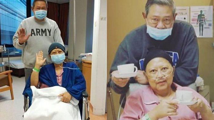Foto-foto Ani Yudhoyono Nyoblos di Rumah Sakit Singapura, Ada Bilik Suara Khusus & Penjagaan Ketat