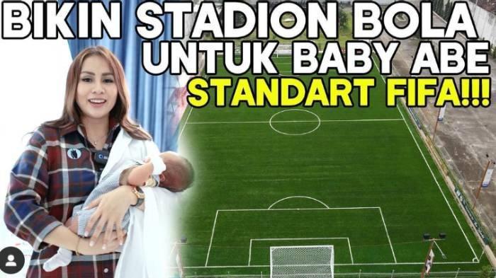 6 Foto Stadion Bola Anak Momo Geisha di Malang, Kado Ultah Dari Orangtua, Pakai Rumput Standar FIFA