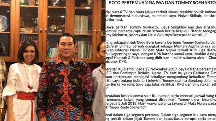 Viral Foto Najwa Shihab Dengan Tommy Soeharto, Begini Fakta Sebenarnya