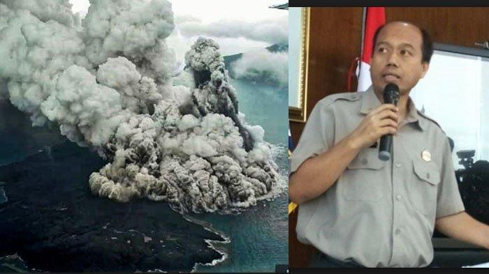 Foto & Video Erupsi Gunung Anak Krakatau dari Pantauan Susi Air di Atas Udara, Ini Penjelasan Sutopo