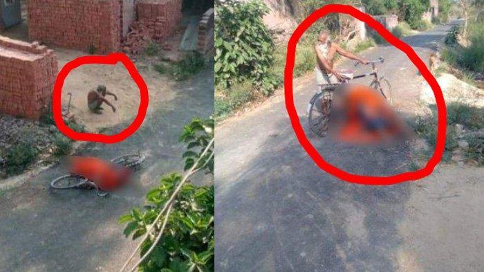 Viral Foto Jenazah Covid-19 Tergeletak di Jalan, Dibawa Suami Pakai Sepeda Sendirian, Ditolak Warga