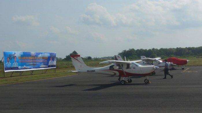 Tim Garuda Terbang di Langit Jember, Meriahkan Hari Lahir Pancasila dari Bandara Notohadinegoro