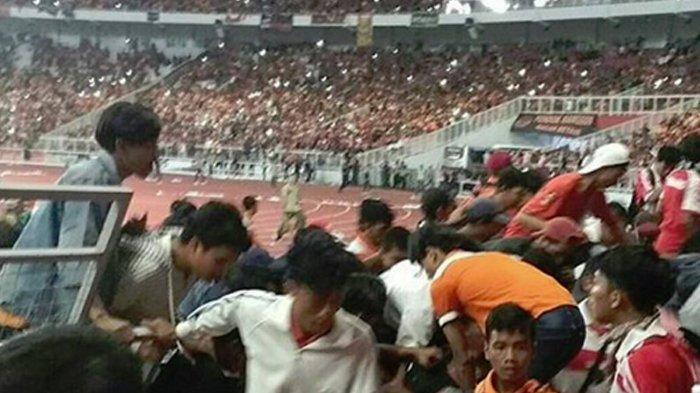 Parah! Rusaknya GBK Gelora Bung Karno Pascafinal Piala Presiden 2018 Tak Terelakkan