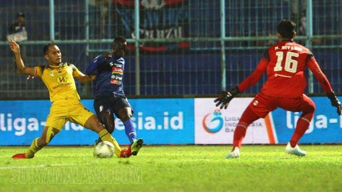 Skor Akhir Arema FC Vs Barito Putera 2-1, Singo Edan Perpanjang Tren Kemenangan