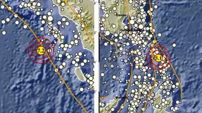 Gempa Bumi Berurutan Hari Ini, di Nias Magnitudo  7,1 dan Di Sulawesi Utara  Magnitudo 5,1
