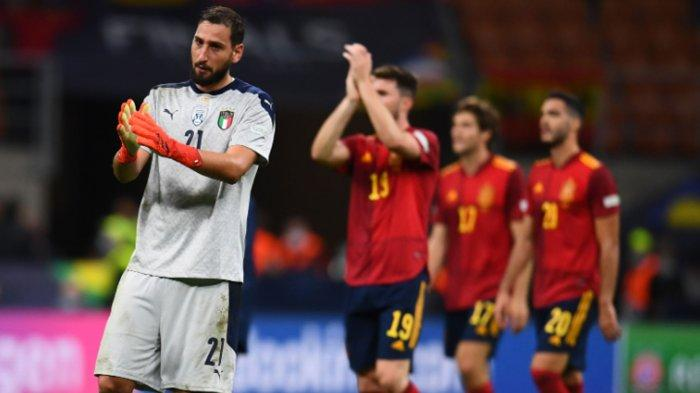 Timnas Italia Kalah dari Spanyol di San Siro Milan, Rekor-Rekor Buruk Gli Azzurri Bermunculan