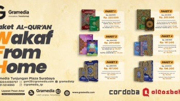Gramedia Tunjungan Plaza Surabaya Gelar Program Waqaf Al Quransampai 31 Oktober 2021
