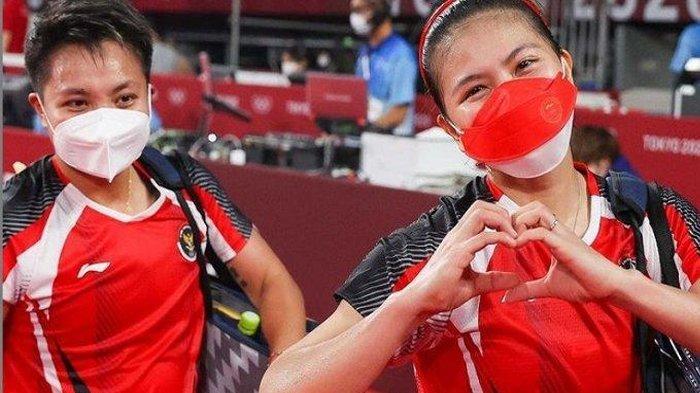 Bangga! Greysia Polii dan Apriani Rahayu Raih Emas Pertama Untuk Indonesia di Olimpiade Tokyo 2020