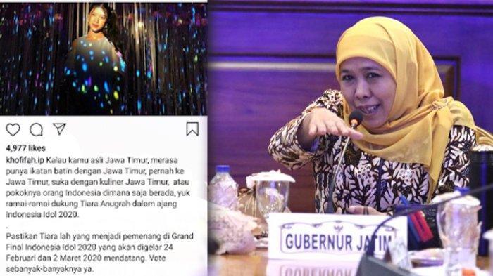 Gubernur Khofifah Ajak Masyarakat Dukung Tiara, Cewek Asal Jember yang Jadi Finalis Indonesian Idol