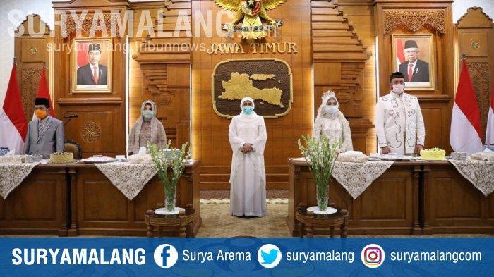 Pengantin yang Rela Tunda Resepsi Pernikahan Demi Cegah Virus Corona Diberi Hadiah Gubernur Khofifah