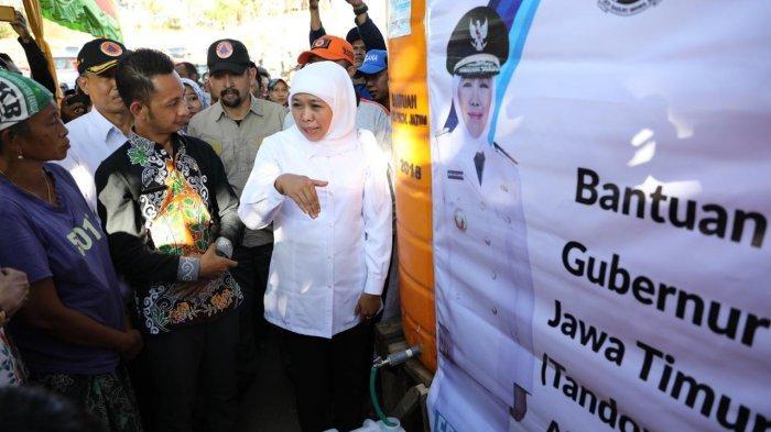 Atasi Dampak Kekeringan di Situbondo, Gubernur Khofifah Kerahkan 100 Pengiriman Air Bersih