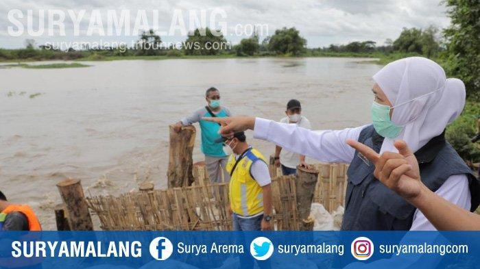 Perbaikan Tanggul Kali Konto Jombang Ditarget Selesai Tiga Hari
