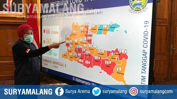 Gubernur Khofifah Imbau Masyarakat Jawa Timur Tunda Mudik Selama Masih Ada Wabah Virus Corona
