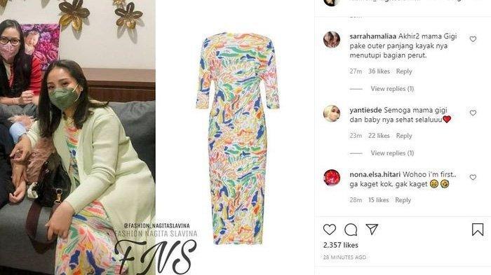 Harga dress Nagita Slavina saat ke dokter senilai Rp 7 juta lebih