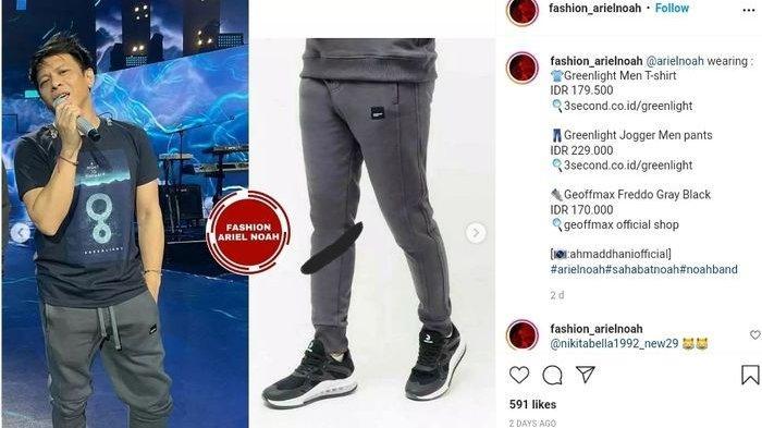Harga joger pants Ariel Noah Rp 299.000