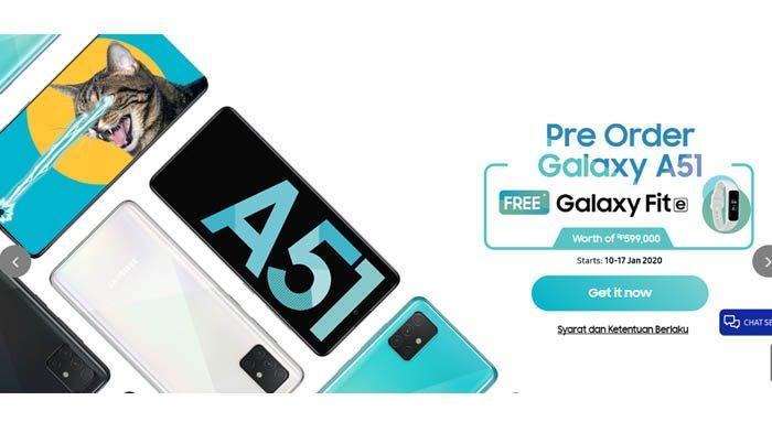 Harga, Spesifikasi dan Link Pre-order HP Samsung Galaxy A51 Varian 6GB/128GB Terbaru Januari 2020